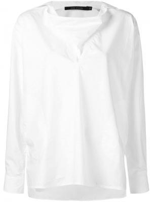 Блузка с V-образным вырезом-шалька Sofie D'hoore. Цвет: белый