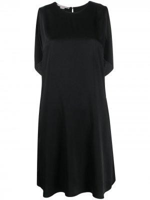 Короткое платье с оборками Stella McCartney. Цвет: черный