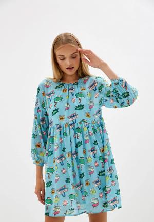 Платье Blugirl Folies. Цвет: голубой