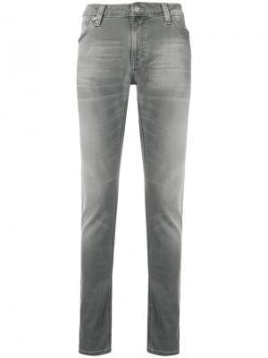 Classic skinny-fit jeans Nudie Co. Цвет: серый