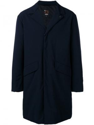 Single-breasted zipped coat Aspesi. Цвет: синий