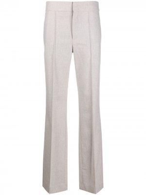 Прямые брюки с завышенной талией Isabel Marant. Цвет: серый