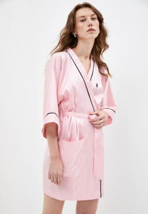 Халат домашний Juicy Couture. Цвет: розовый