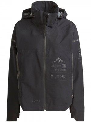 Куртка My Shelter с капюшоном adidas. Цвет: черный
