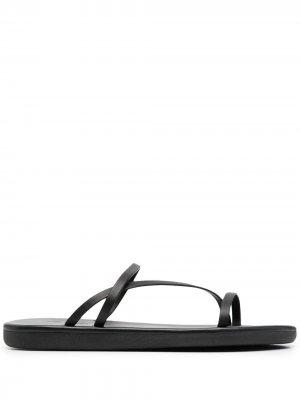 Сандалии Parthena с ремешками Ancient Greek Sandals. Цвет: черный