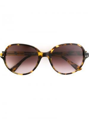 Солнцезащитные очки Aki Oliver Goldsmith. Цвет: коричневый