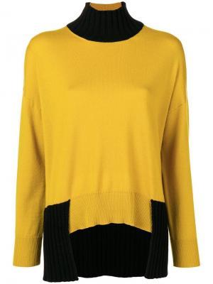 Roll neck sweater Pierantoniogaspari. Цвет: желтый