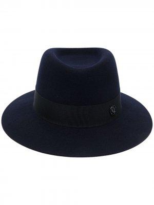 Шляпа-федора Andre Maison Michel. Цвет: синий