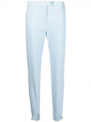 Зауженные брюки Aspesi. Цвет: синий