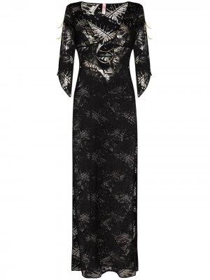 Полупрозрачное пляжное платье Eileen Agent Provocateur. Цвет: черный