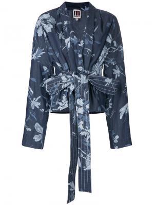 Куртка с цветочным принтом I'M Isola Marras. Цвет: синий