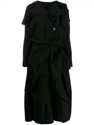 Пальто с аппликацией Yohji Yamamoto. Цвет: черный
