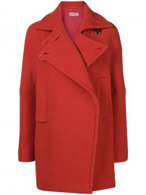 Single breasted coat Sportmax. Цвет: красный