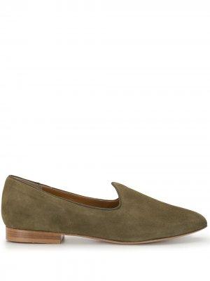 Слиперы с заостренным носком Le Monde Beryl. Цвет: зеленый