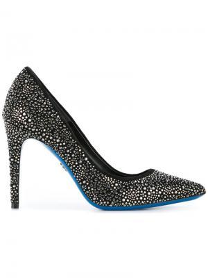 Туфли-лодочки с заклепками Loriblu. Цвет: чёрный