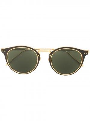 Солнцезащитные очки Cooper в оправе кошачий глаз Linda Farrow. Цвет: черный