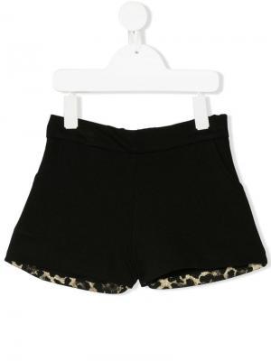 Leopard print shorts Marco Bologna Kids. Цвет: черный