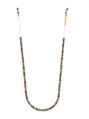 Цепочка для очков Candy Rain с бусинами Frame Chain. Цвет: коричневый