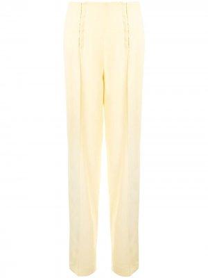 Расклешенные брюки Dion Lee. Цвет: желтый