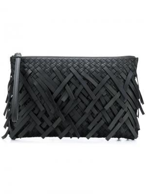 Клатч с плетением intrecciato Bottega Veneta. Цвет: черный