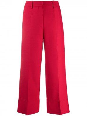 Укороченные брюки Valentino. Цвет: красный