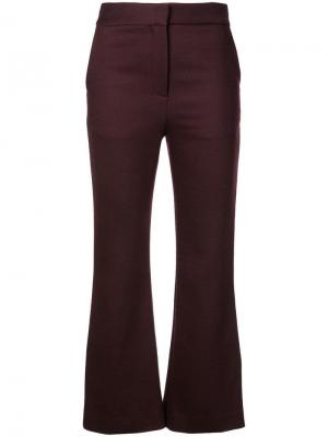Укороченные брюки клеш Adam Lippes. Цвет: burgundy
