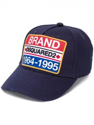 Бейсболка с нашивкой-логотипом Dsquared2. Цвет: синий