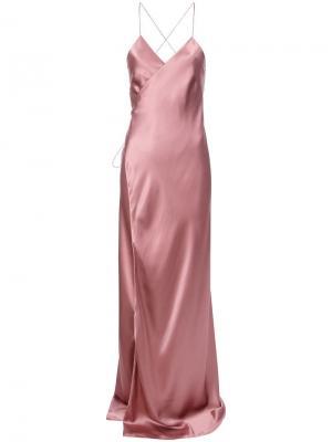 Вечернее платье на бретельках Michelle Mason. Цвет: розовый