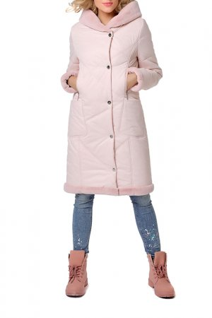 Пальто DizzyWay. Цвет: пудра