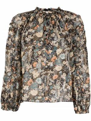 Блузка с цветочным принтом Ulla Johnson. Цвет: зеленый