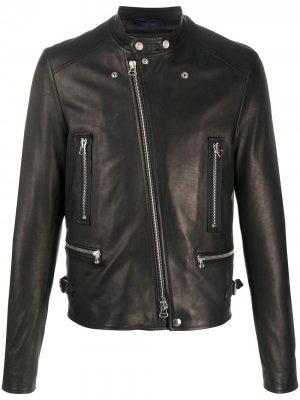 Байкерская куртка LANVIN. Цвет: коричневый