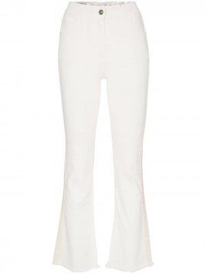 Укороченные расклешенные джинсы Etro. Цвет: белый