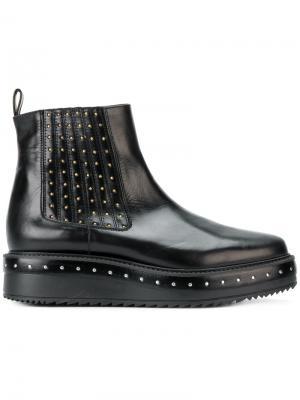 Ботинки челси на платформе с заклепками Albano. Цвет: чёрный