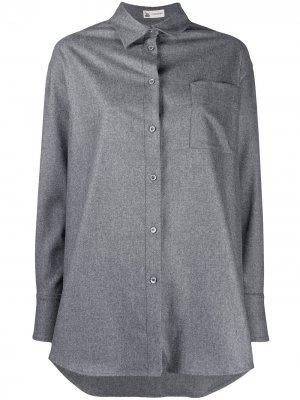 Рубашка на пуговицах Colombo. Цвет: серый