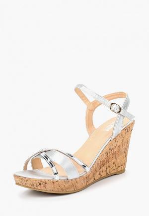 Босоножки Max Shoes. Цвет: серый
