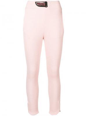 Укороченные леггинсы кроя слим Mr & Mrs Italy. Цвет: розовый