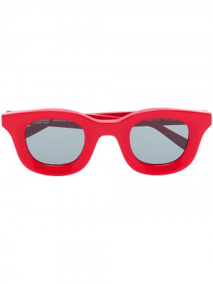 Солнцезащитные очки Red Rhude Rhodeo 657 в квадратной оправе Thierry Lasry. Цвет: красный