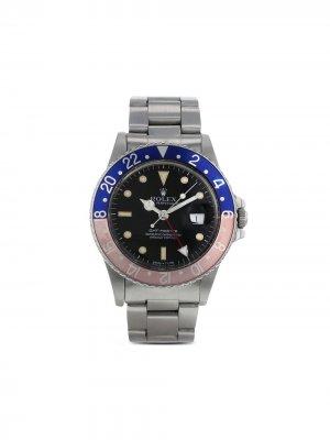 Наручные часы GMT-Master pre-owned 40 мм 1986-го года Rolex. Цвет: черный