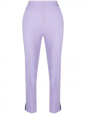 Укороченные брюки с разрезами Elisabetta Franchi. Цвет: фиолетовый
