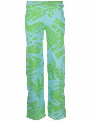 Укороченные трикотажные брюки Paloma Wool. Цвет: синий