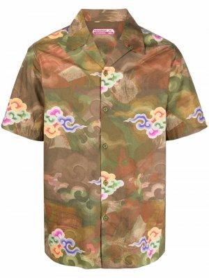 Рубашка с принтом Jungle Cloud Maharishi. Цвет: зеленый