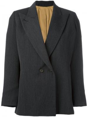 Блейзер с заостренными лацканами Jean Paul Gaultier Pre-Owned. Цвет: серый