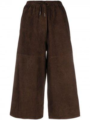 Кюлоты с эластичным поясом Co. Цвет: коричневый