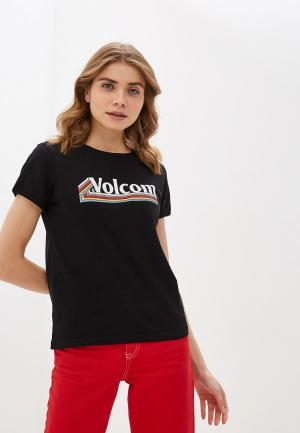 Футболка Volcom. Цвет: черный