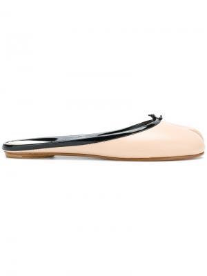 Слиперы с носком разделенным большим пальцем Maison Margiela. Цвет: нейтральные цвета