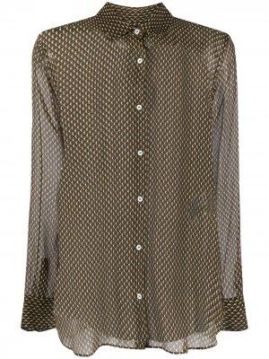Шифоновая рубашка Aspesi. Цвет: зеленый