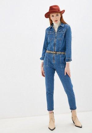 Комбинезон джинсовый Pimkie. Цвет: синий