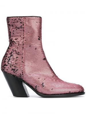 Ботинки с пайетками A.F.Vandevorst. Цвет: розовый