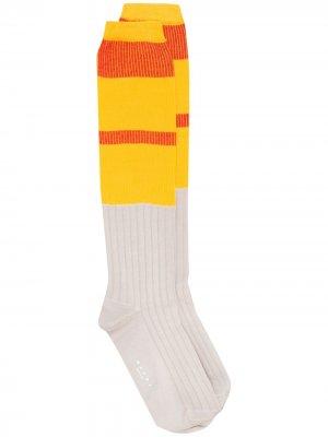 Носки в стиле колор-блок Marni. Цвет: желтый
