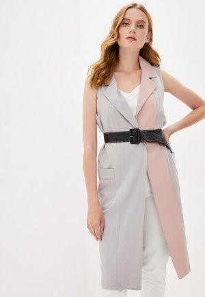 Жилет B.Style. Цвет: серый